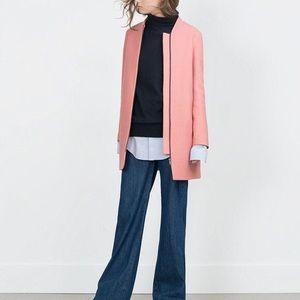 Zara Pink Wool Coat